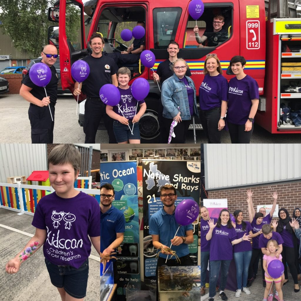 Bouncing-in-the-August-at-Bounce-Centre-UK-fire-fighters-Kidscan-Childrens-Cancer-Research