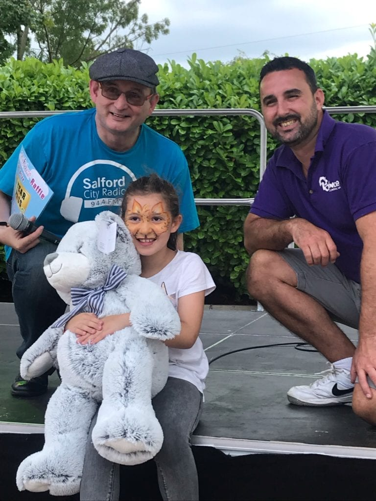 Bouncing-in-the-August-at-Bounce-Centre-UK-teddy-bear-Kidscan-Childrens-Cancer-Research