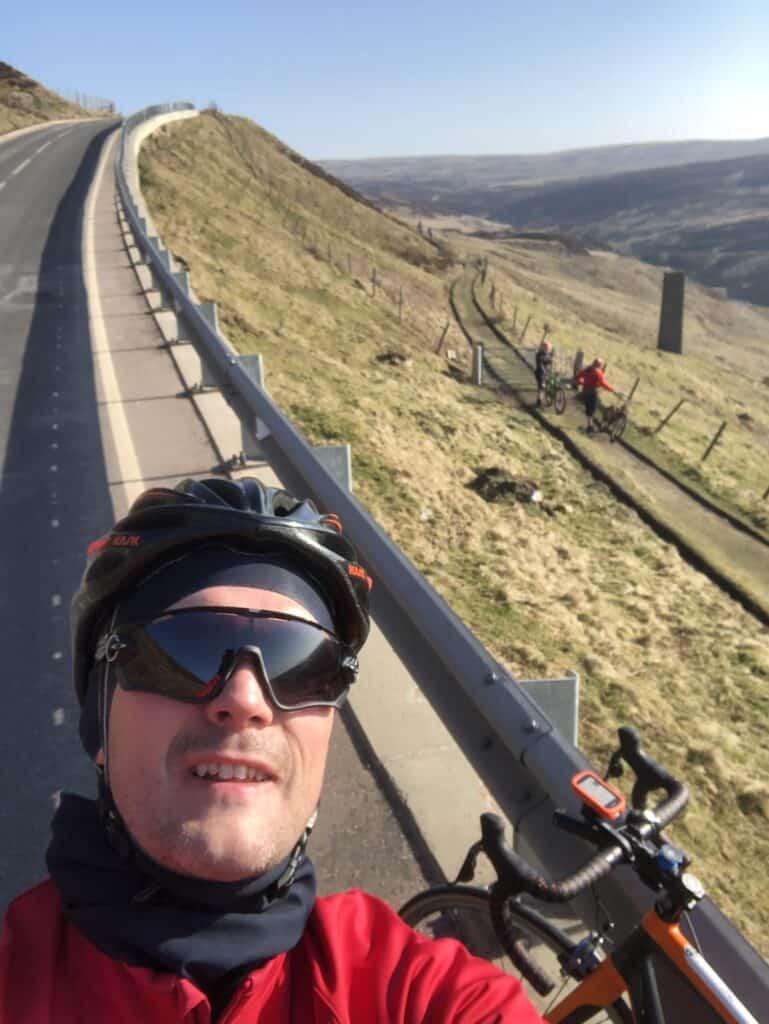 Howard Spargo training in Peak District