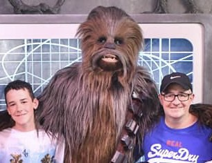 James, Dad and Chewbacca